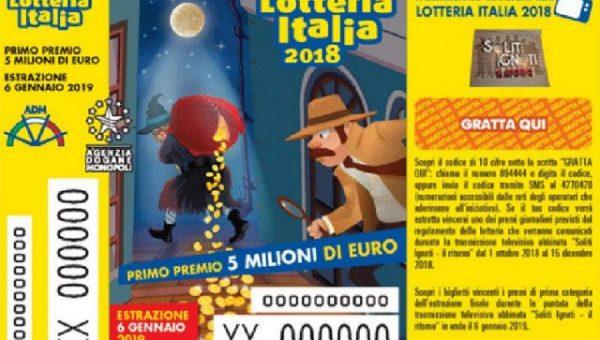 Lotteria Italia 2018, un premio da 50mila euro vinto a Verbania